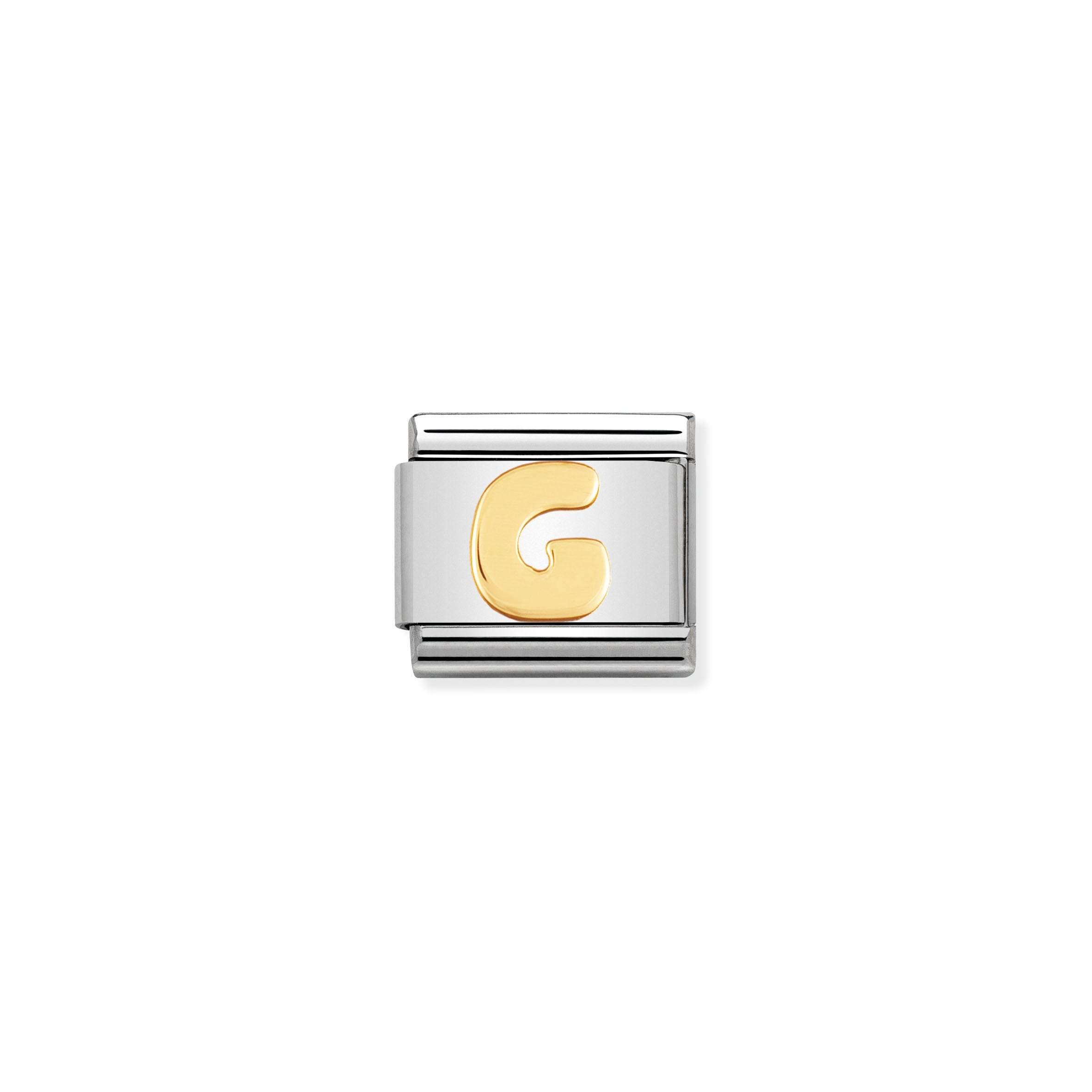 NOMINATION - Composable Steel & Gold Letter 'G' 03010107