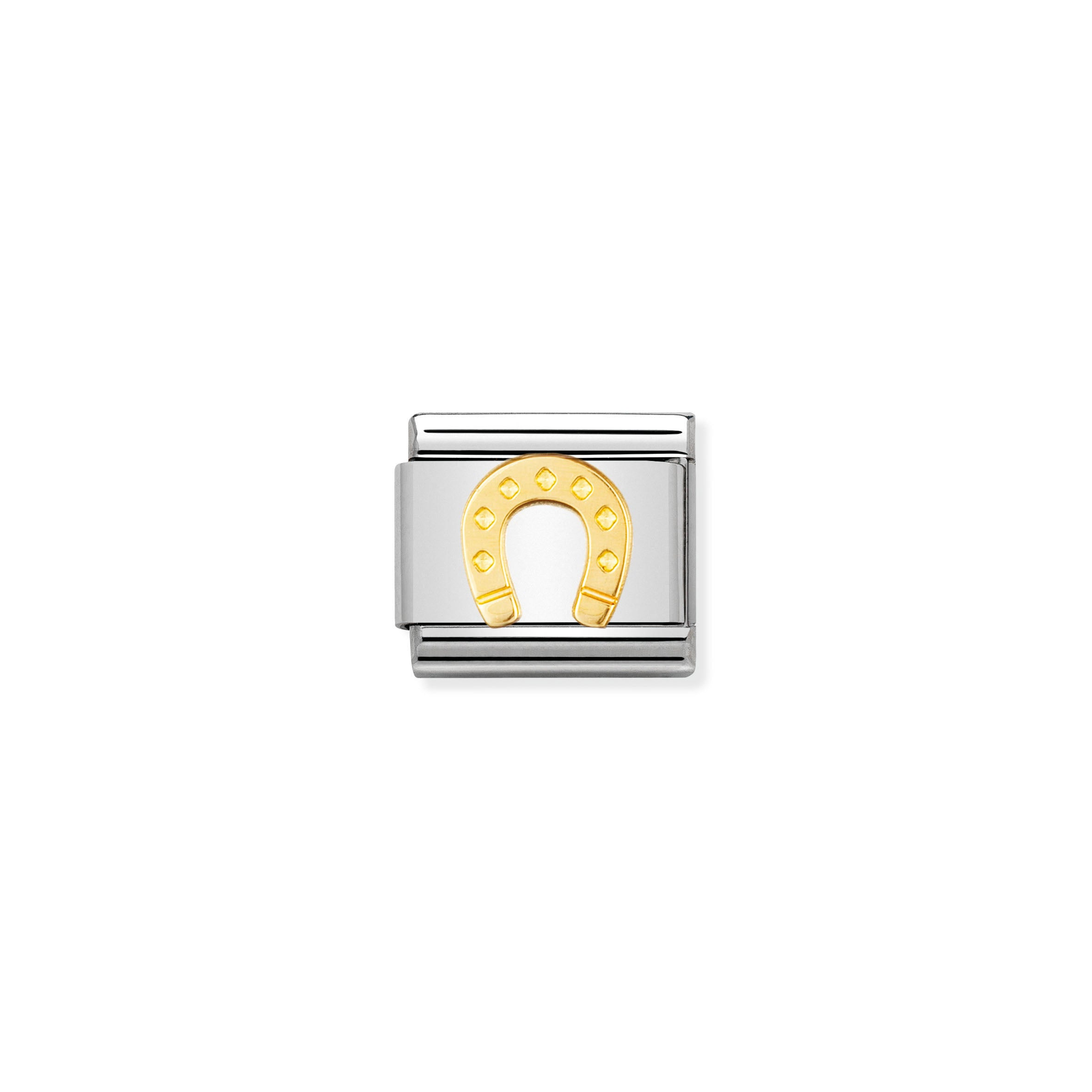 NOMINATION - Composable 030115 08 Classic GOOD LUCK st/steel & 18ct gold (Horseshoe )