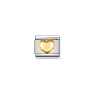 NOMINATION - Composable 030116 01 COMP Classic LOVE  st/steel & 18ct gold (Raised Heart)
