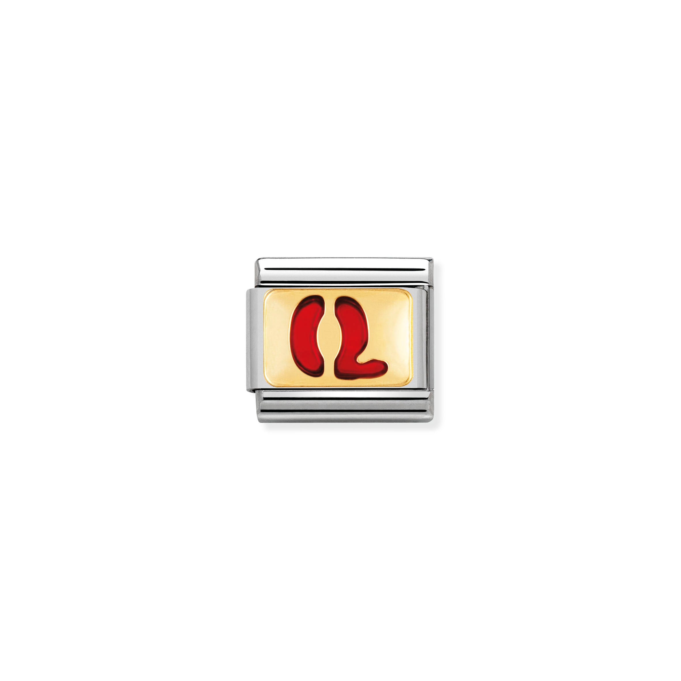 NOMINATION - Composable Enamel & Gold Red Letter 'Q' 03020217