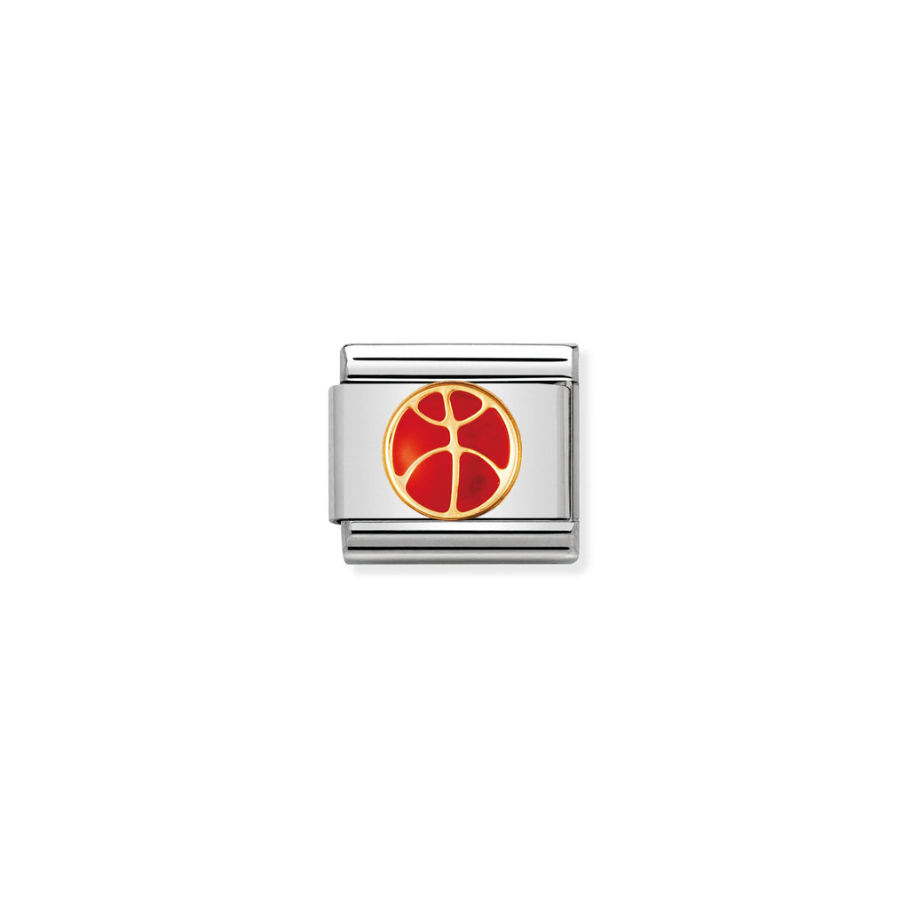 NOMINATION - Composable 030203 08 COMP Classic SPORTS st/steel, enamel & 18ct gold (Basketball)
