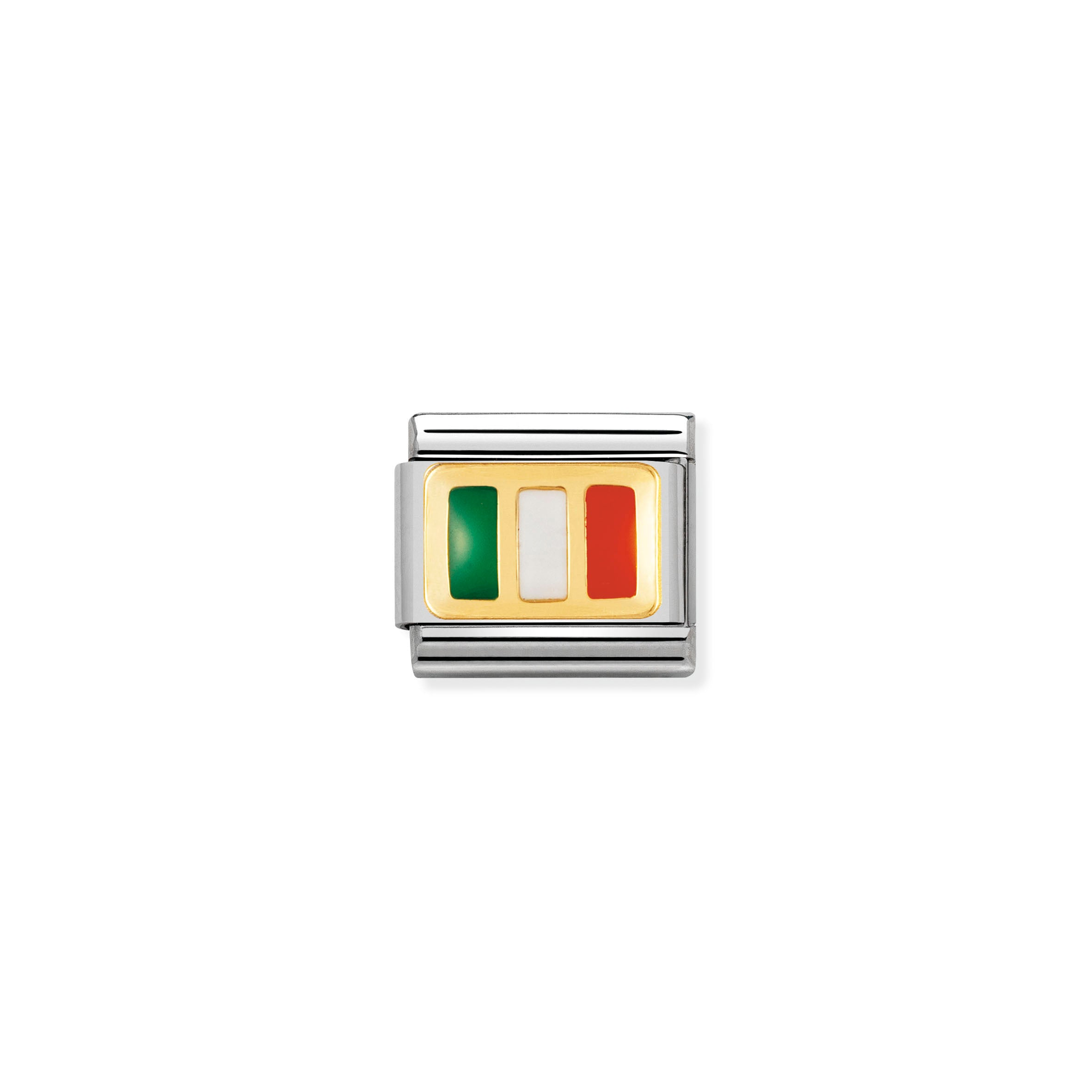 NOMINATION - Composable Classic EUROPE FLAG st/steel, enamel & 18ct gold (Ireland) 03023410