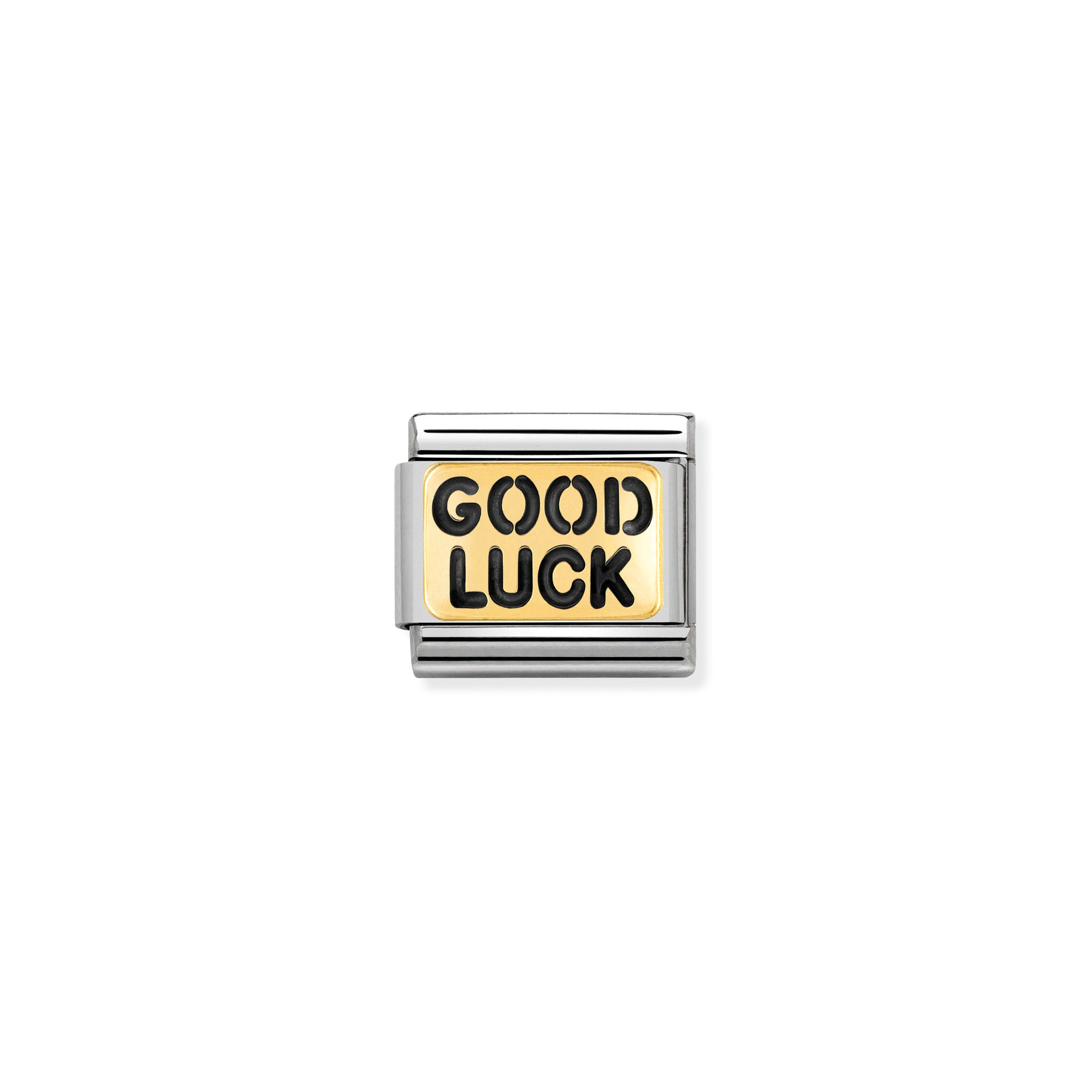 NOMINATION - Composable Messages Steel & Gold 'Good Luck'