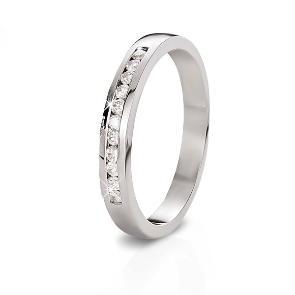 18ct White Gold 0.16ct Diamond Wedding Band