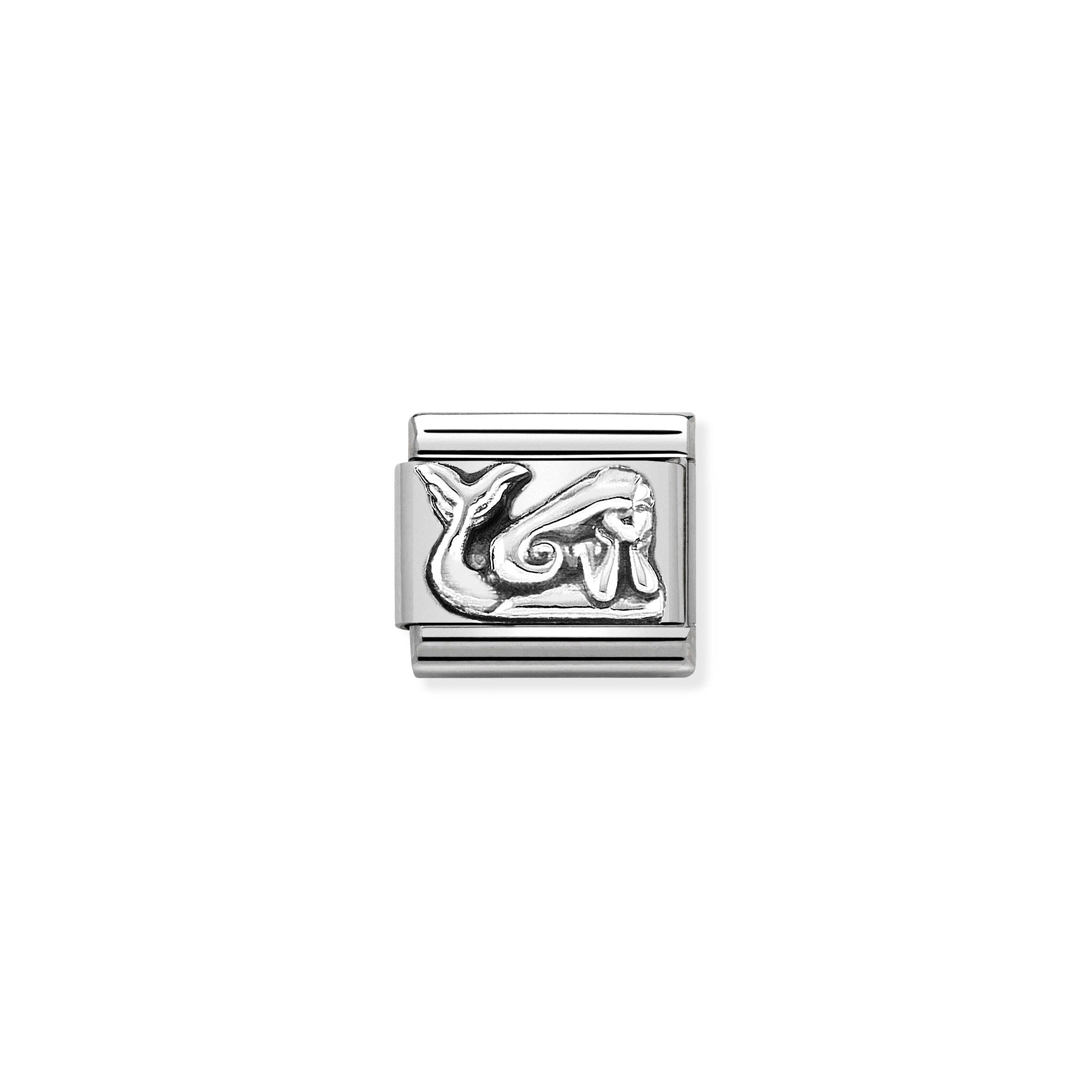 NOMINATION - Composable Classic OXIDISED SYMBOLS st/steel & sterling silver (Mermaid)