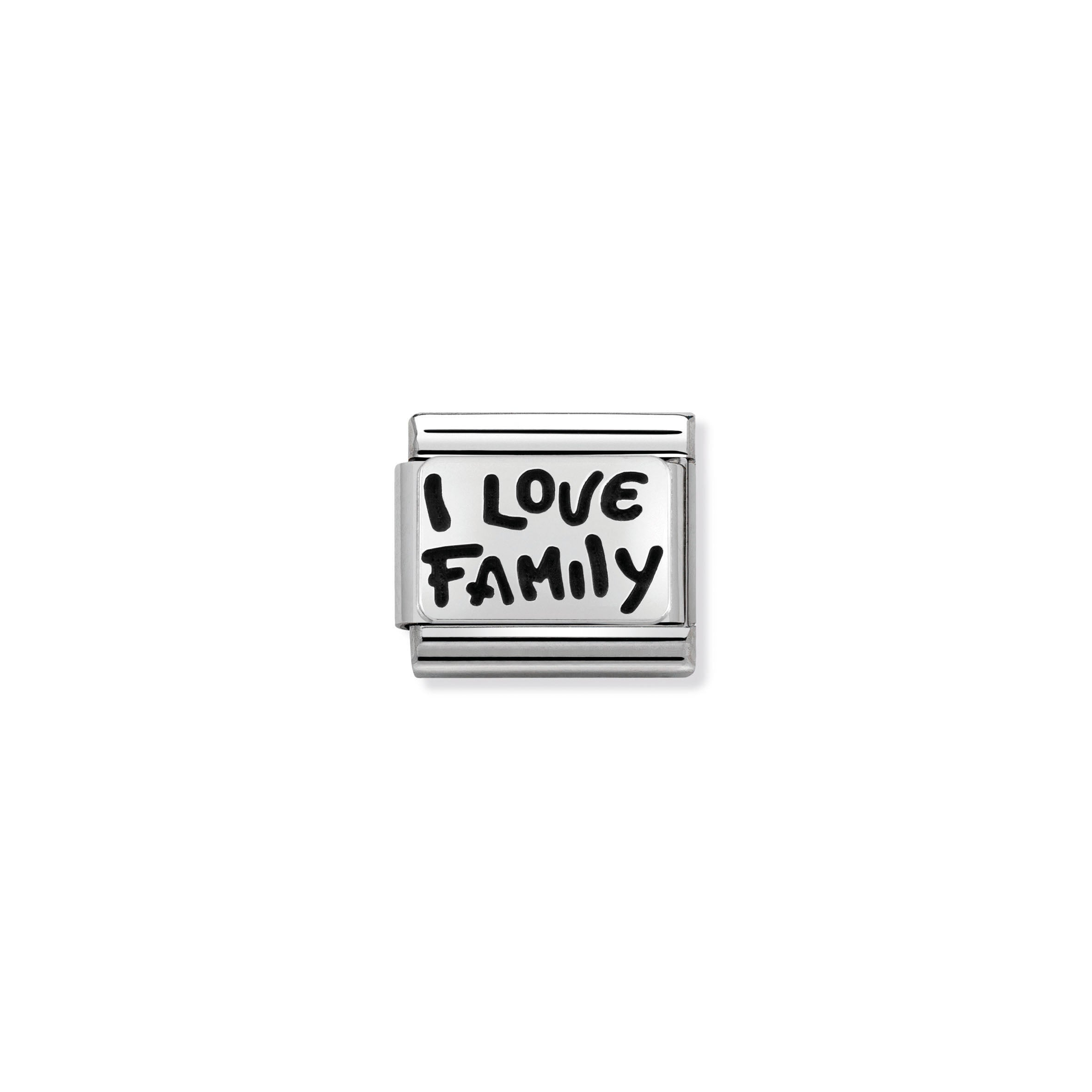 NOMINATION - Composable Classic st/steel & 925 silver (I love family) 33010234