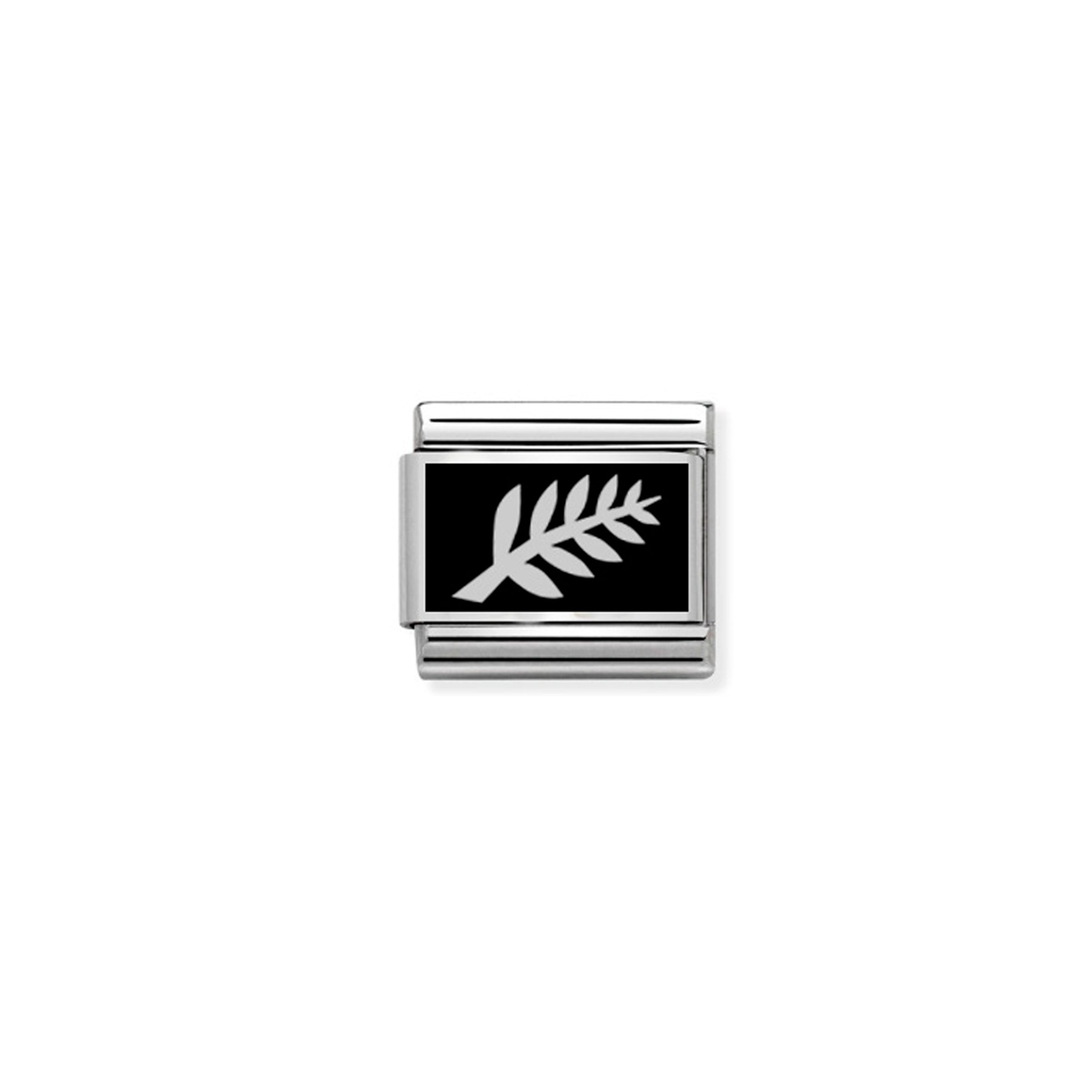 NOMINATION - Composable Classic SYMBOLS st/steel, enamel & silver 925 (NZ SILVER FERN)
