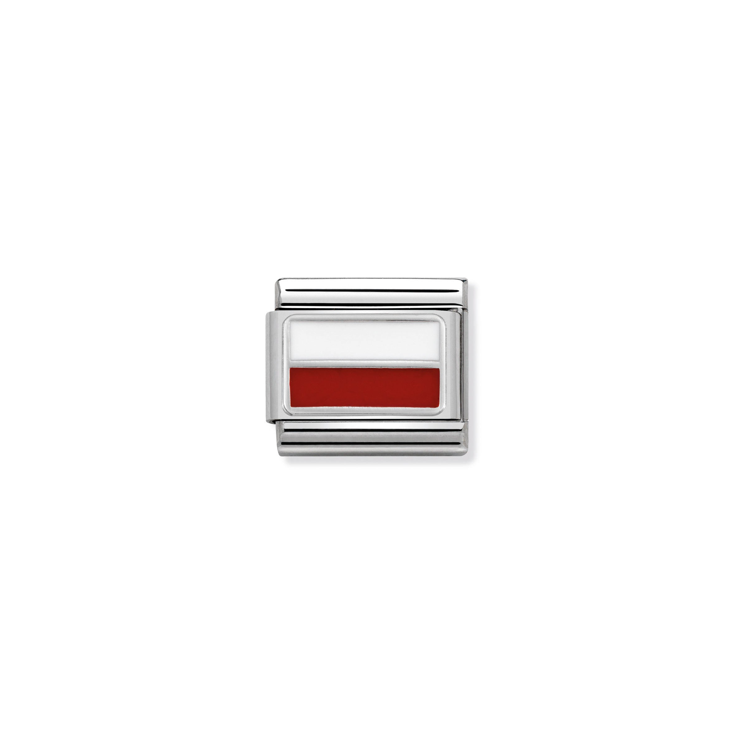NOMINATION - Composable 33020713  COMP Classic POLISH FLAG st/steel, enamel & Sterling Silver
