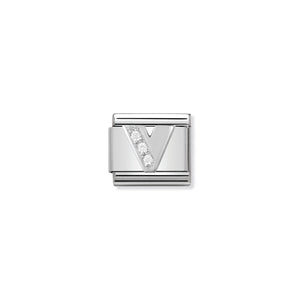 NOMINATION - Composable Silver & Cz Silver Shine Letter 'V' 33030122