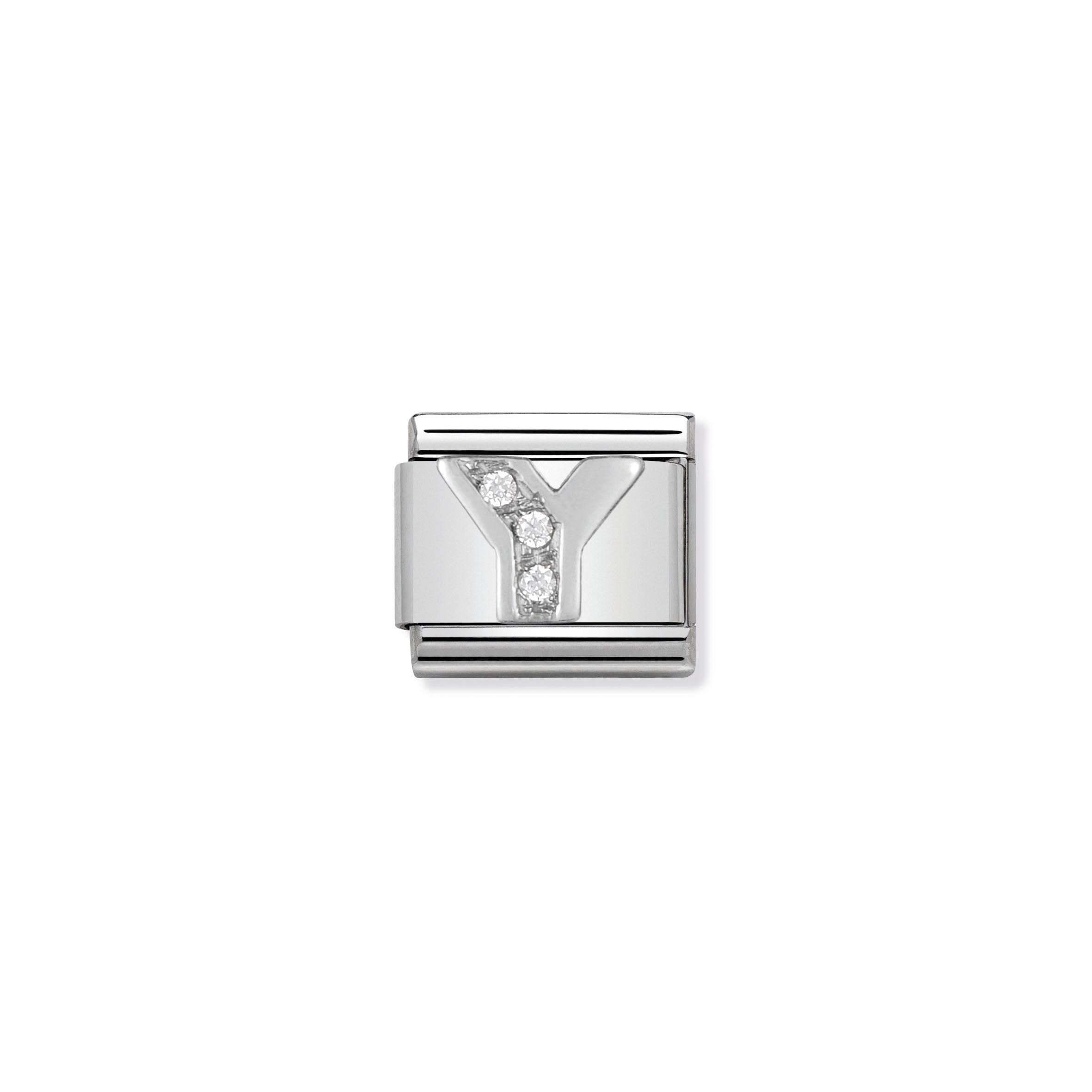 NOMINATION - Composable Silver & Cz Silver Shine Letter 'Y' 33030125