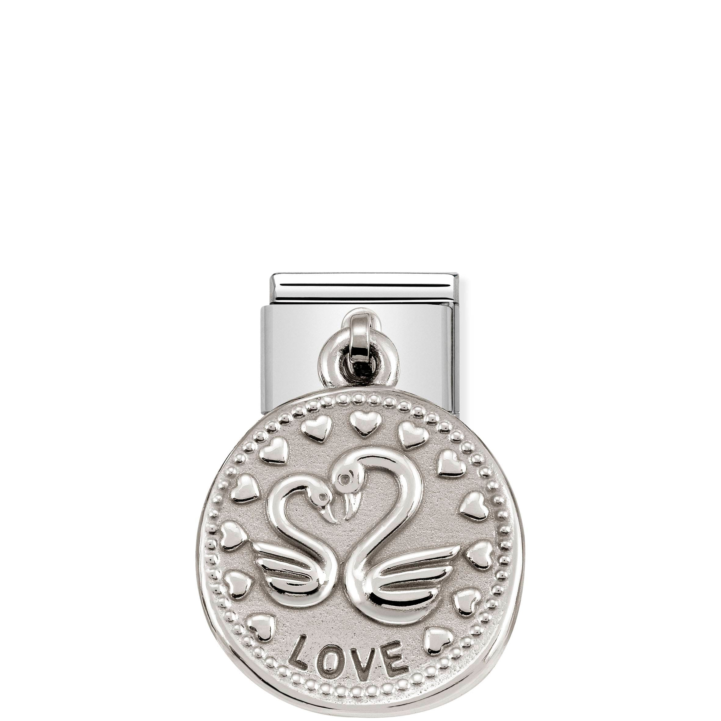 NOMINATION - Composable Classic CHARMS WISHES st/steel & silver 925 (LOVE)