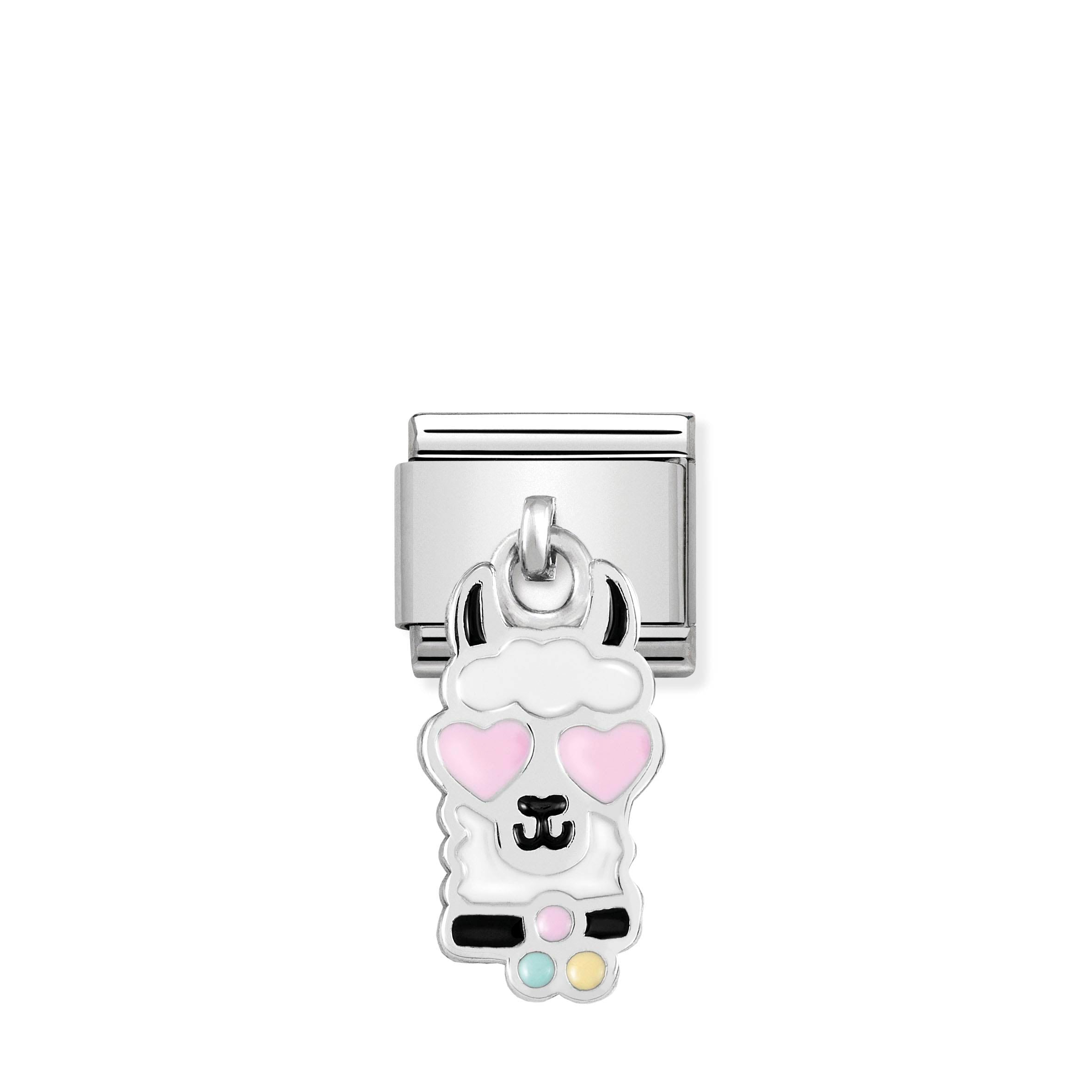 NOMINATION - Composable Classic CHARMS st/st, sterling silver & enamel (Llama head)