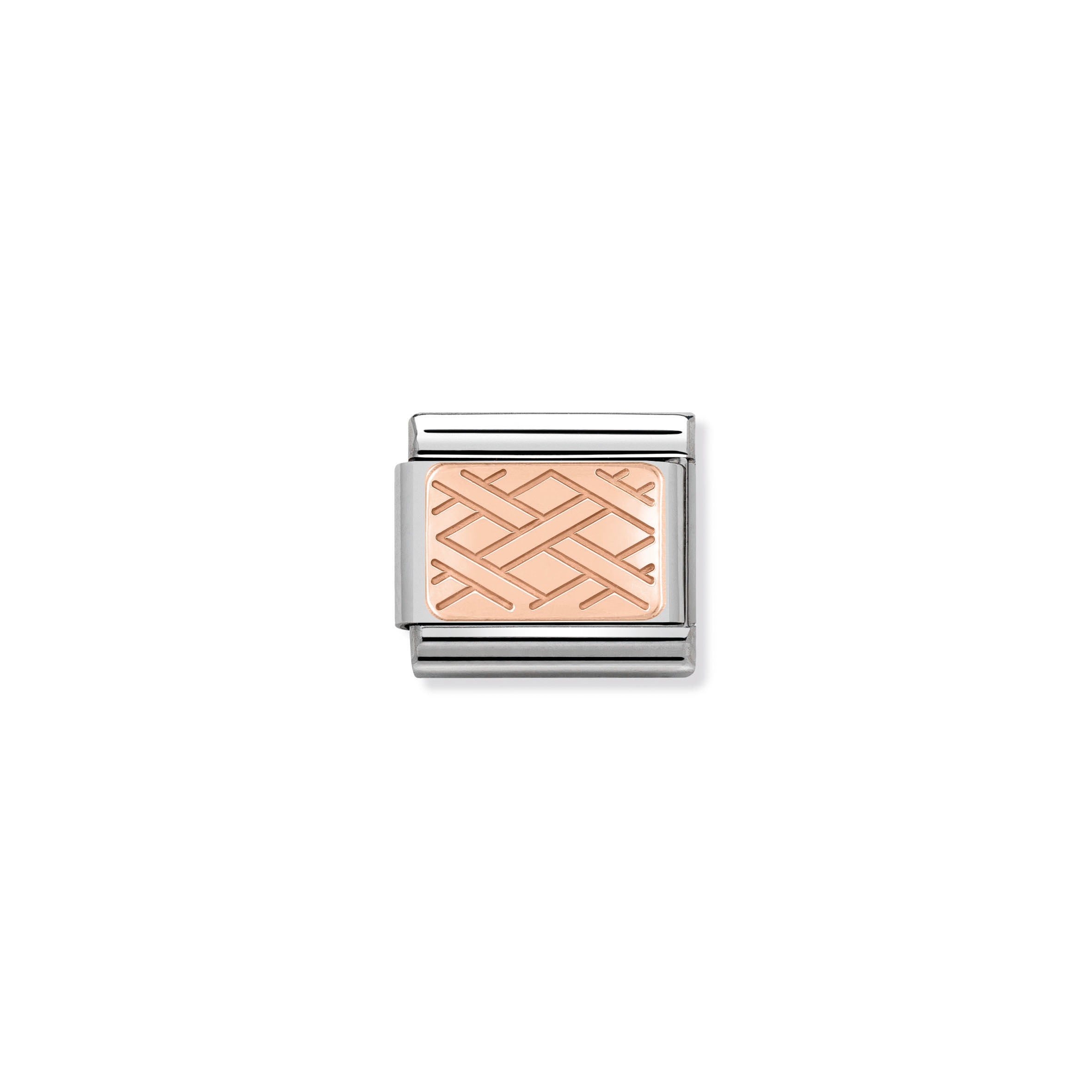 NOMINATION - Composable 430101 03 Classic ROSE GOLD PLATE st/st, 9ct rose gold CUSTOM (Weave)