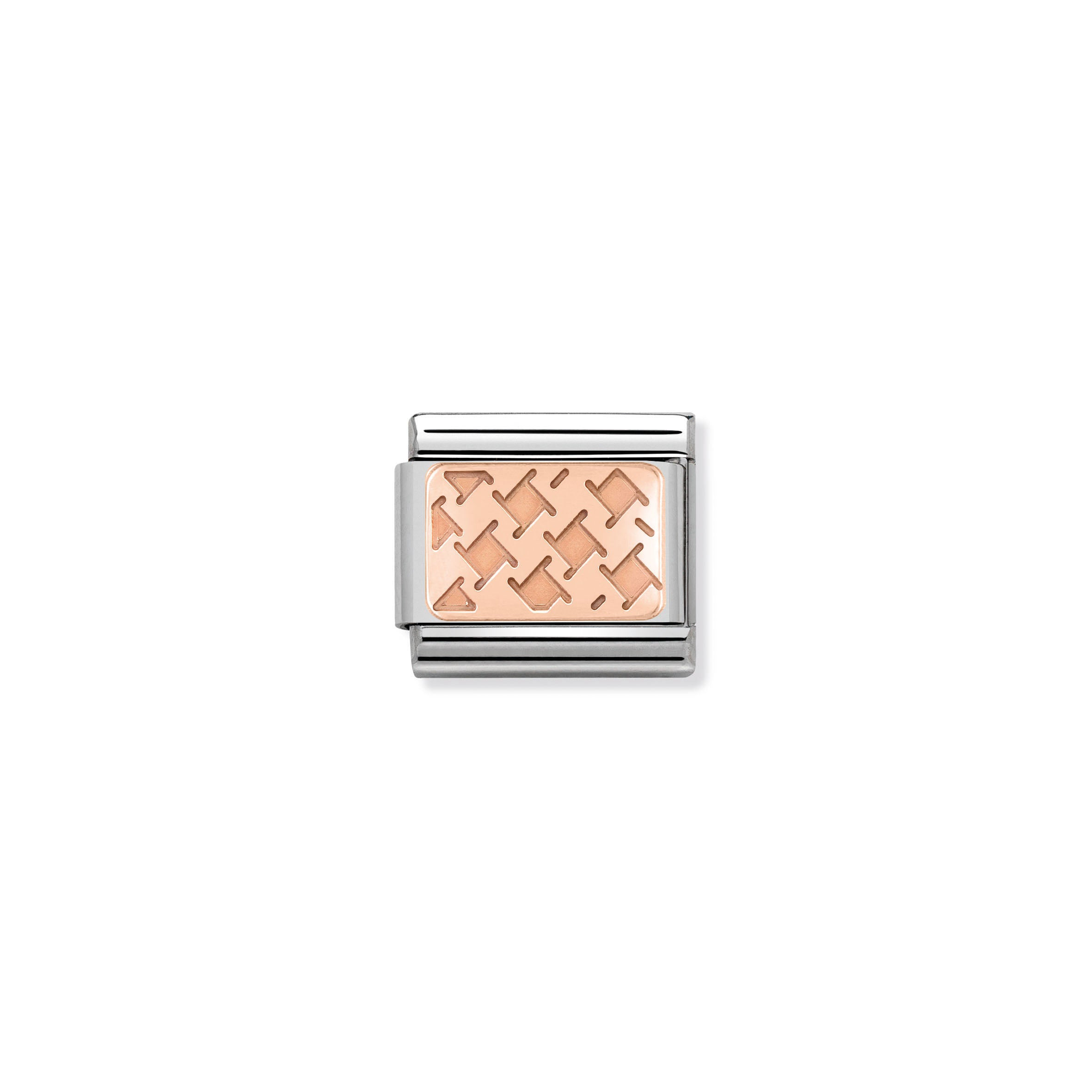 NOMINATION - Composable 430101 04 COMP Classic ROSE GOLD PLATE st/st, 9ct rose gold CUSTOM (Houndstooth)