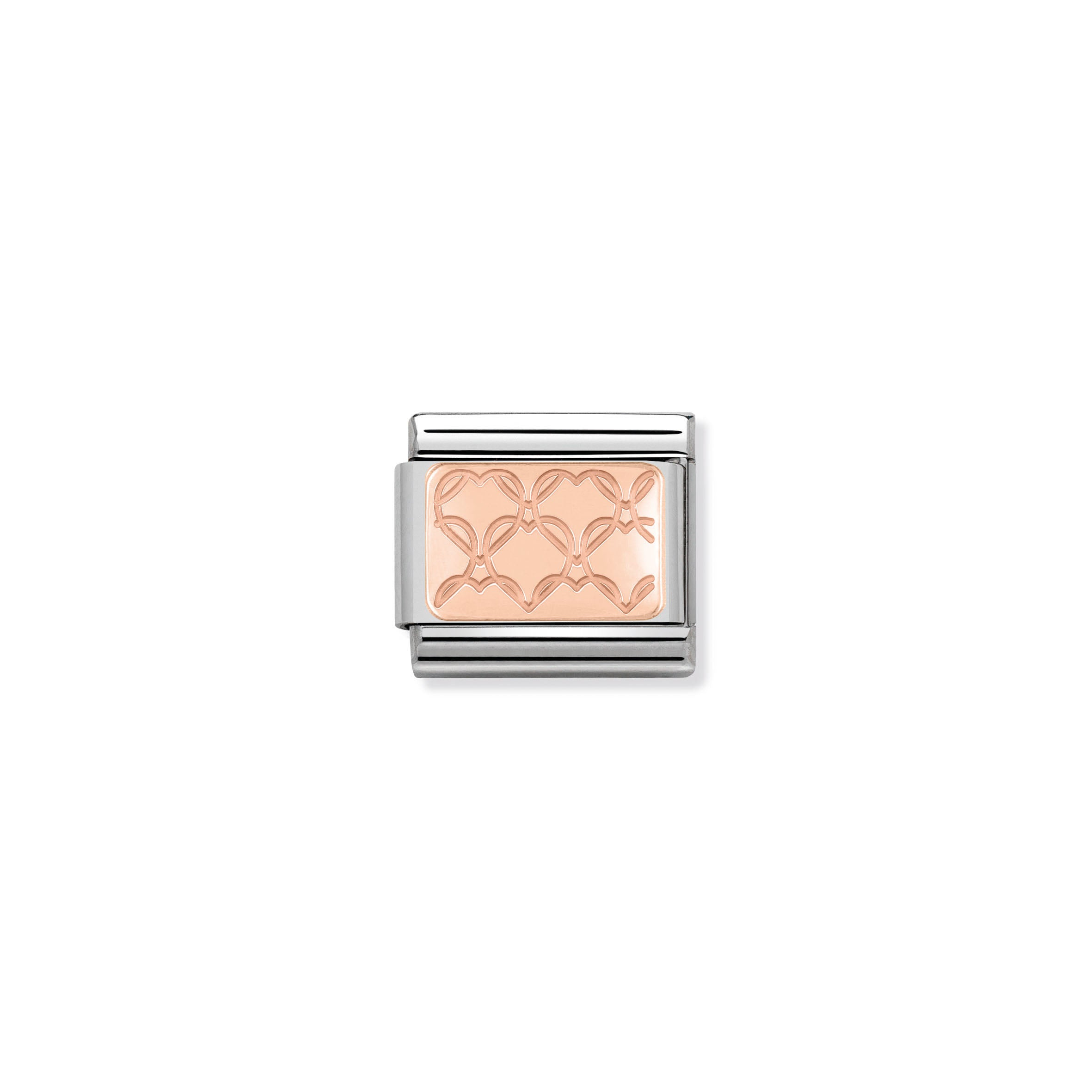 NOMINATION - Composable 430101 07 COMP Classic ROSE GOLD PLATE st/st, 9ct rose gold (Hearts)