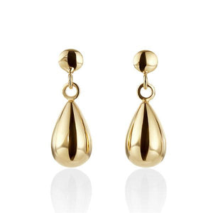 9 Carat Yellow Gold Drop Earrings