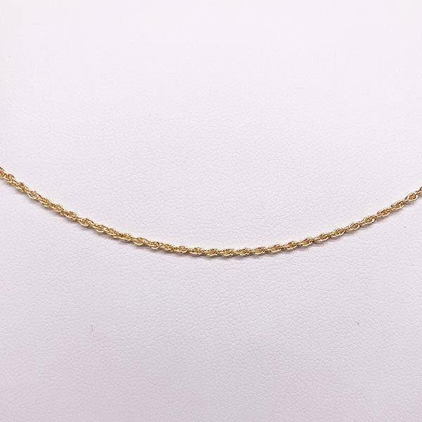 2.21gm 9ct 29 gauge double cable chain 50cm