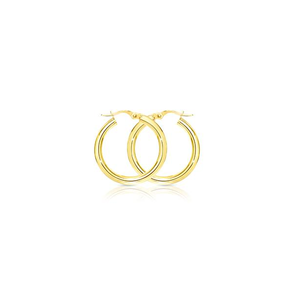 9ct 20mm polished hoops