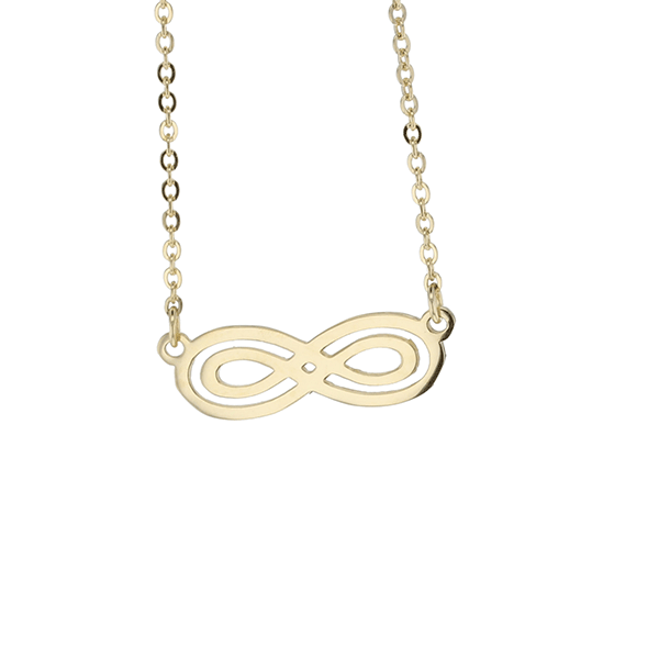 9ct 45cm Double Infinity Necklace