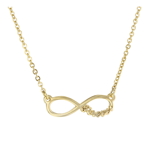 9ct 45cm Infinity with Forever Necklace