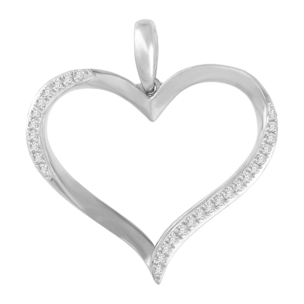 9ct Gold Open Heart Pendant