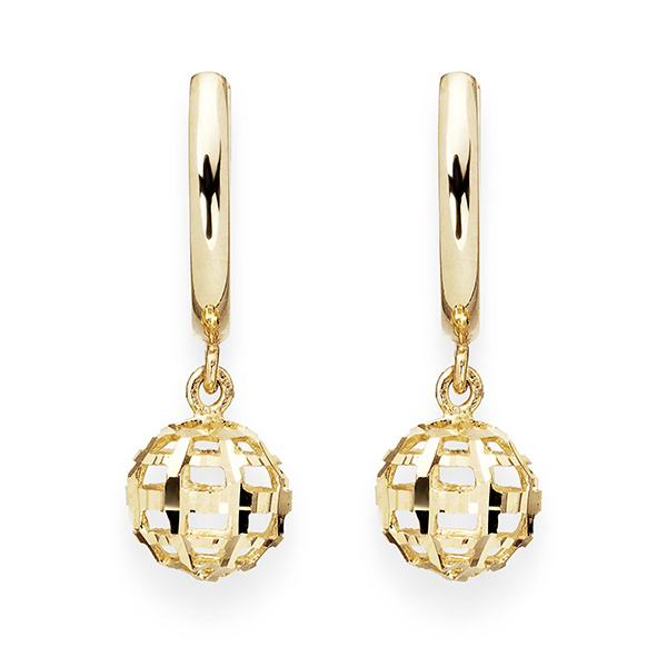 9ct Huggy Drop Earrings