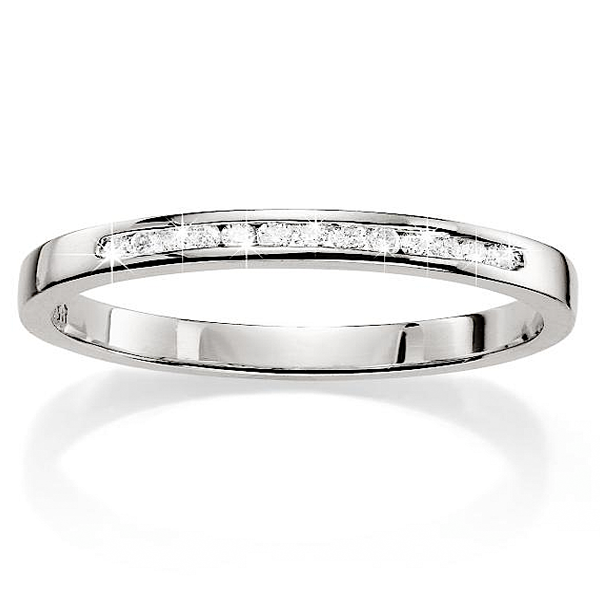 9ct White Gold 0.10ct Diamond Wedding Band