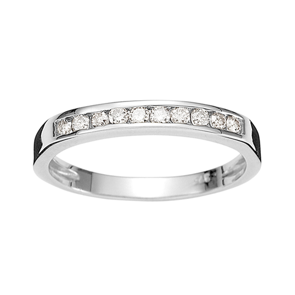 9ct White Gold 0.25ct Diamond Band