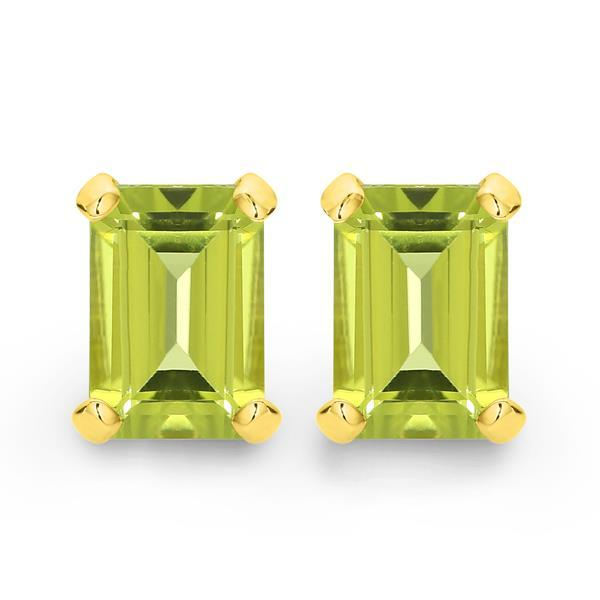 9ct gold peridot earrings