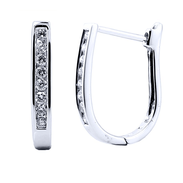 9ct white gold 0.25ct diamond huggie earrings