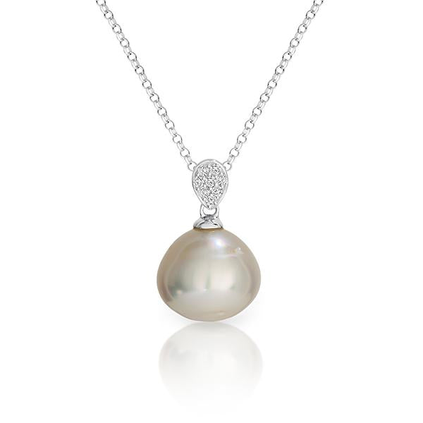 Arafura Silver South Sea Cultured Pearl Pendant