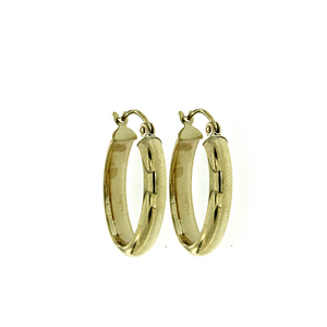 9ct half round oval hoops