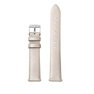CLUSE 16mm Strap Warm White Metallic/Silver