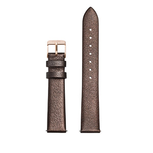 CLUSE 16mm Strap Chocolate Brown Metallic/Rose Gold