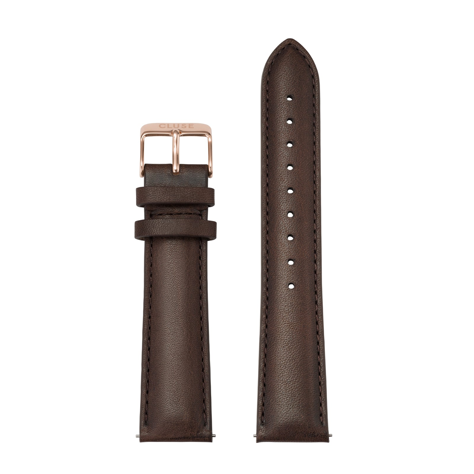 CLUSE 20mm Watch Strap Rose Gold/Dark Brown