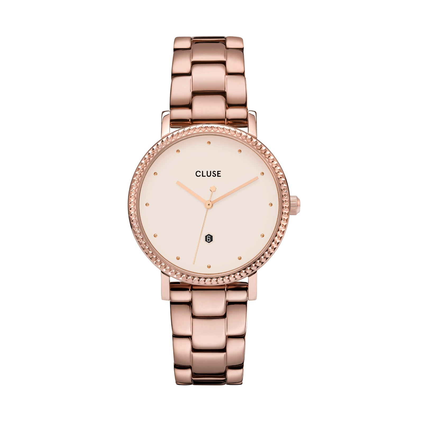 CLUSE Le Couronnement Rose Gold/Winter White Rose Gold Link