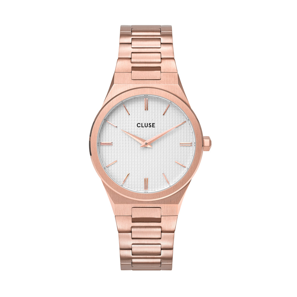 CLUSE Vigoureux 33 H-Link Rose Gold Snow White/ Rose Gold
