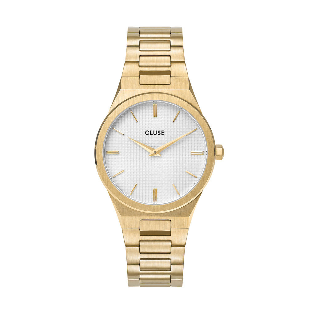 CLUSE Vigoureux 33 H-Link Gold Snow White/ Gold