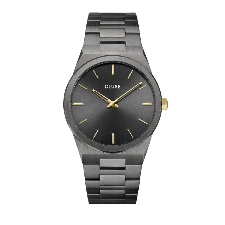 CLUSE Vigoureux Mens Dark Grey/Gold Link