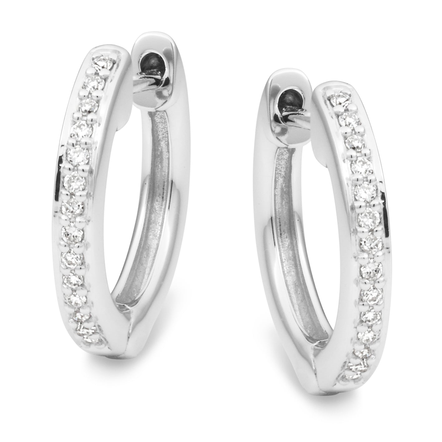 Diamond Claw Set Huggie Earring