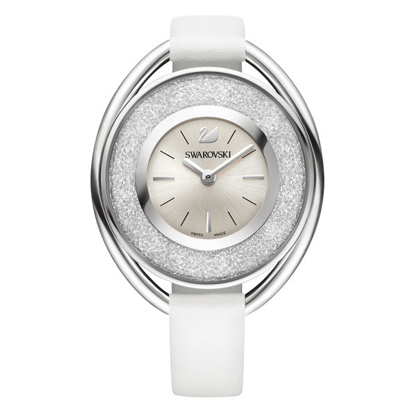 SWAROVSKI CRYSTALLINE STAINLESS STEEL WATCH, WHITE