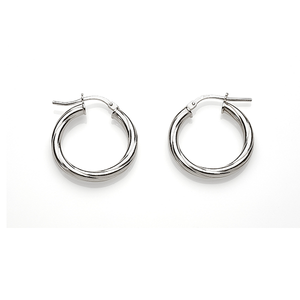 Sterling Silver 20mm Twist Hoops