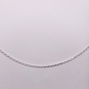 Sterling Silver 50cm Faceted Cable Chain
