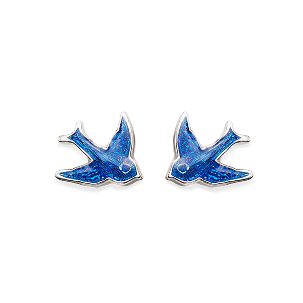 Sterling Silver Bluebird Earrings