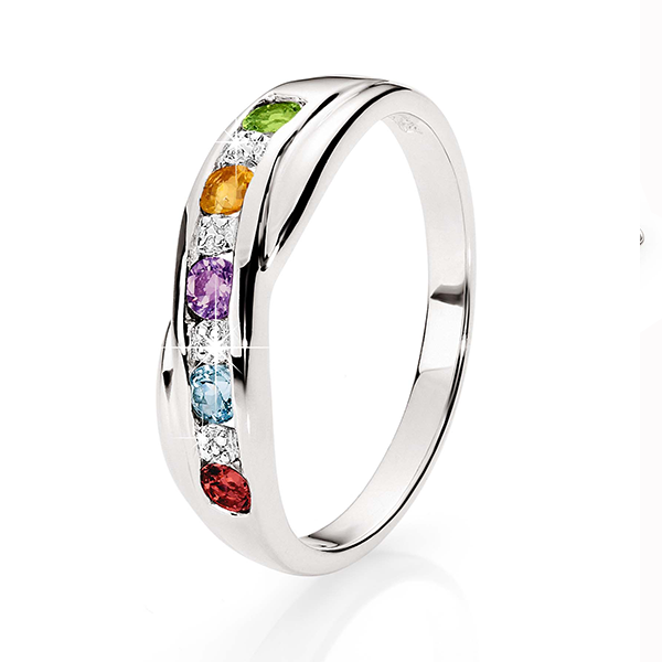 Sterling Silver Multicolour CZ Ring