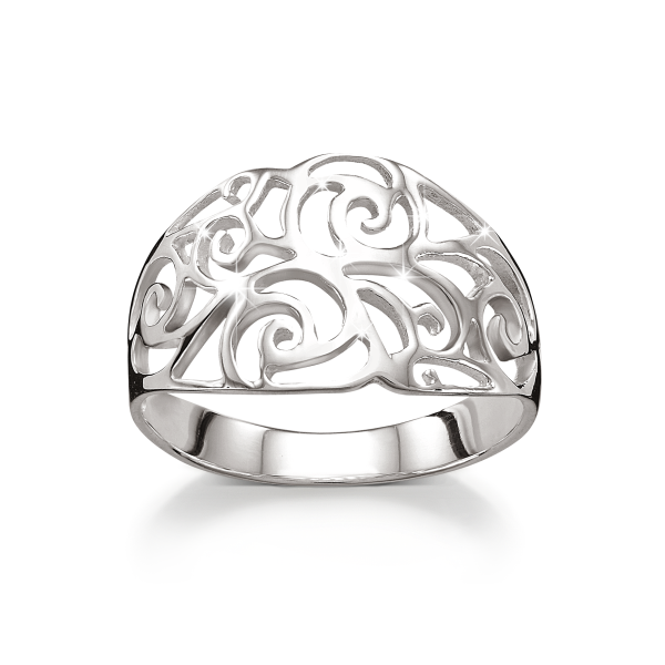 Sterling Silver Open Scroll Ring