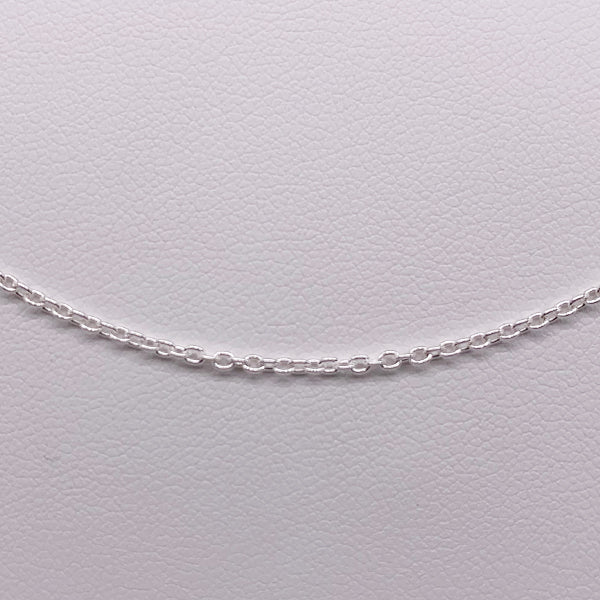 Sterling silver 50cm Rolo chain