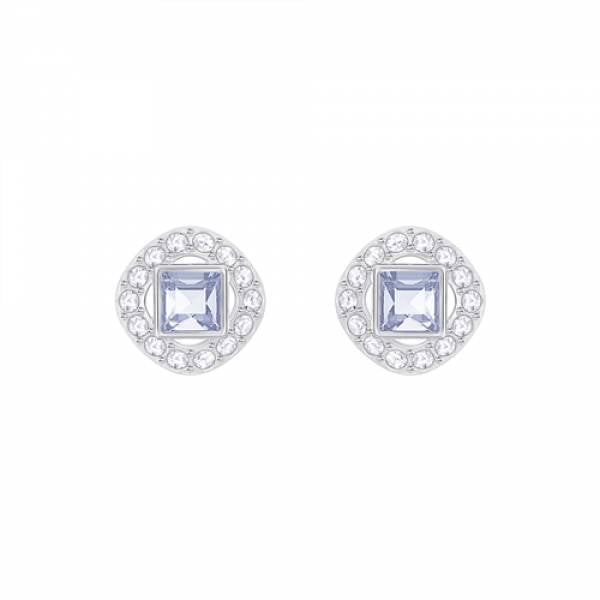 Swarovski Rhodium Angelic Square Earrings