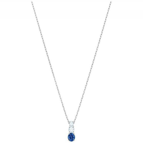 Swarovski Rhodium Attract Trilogy Necklace
