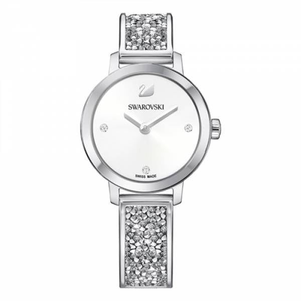 Swarovski Rhodium Cosmic Rock Bangle Watch
